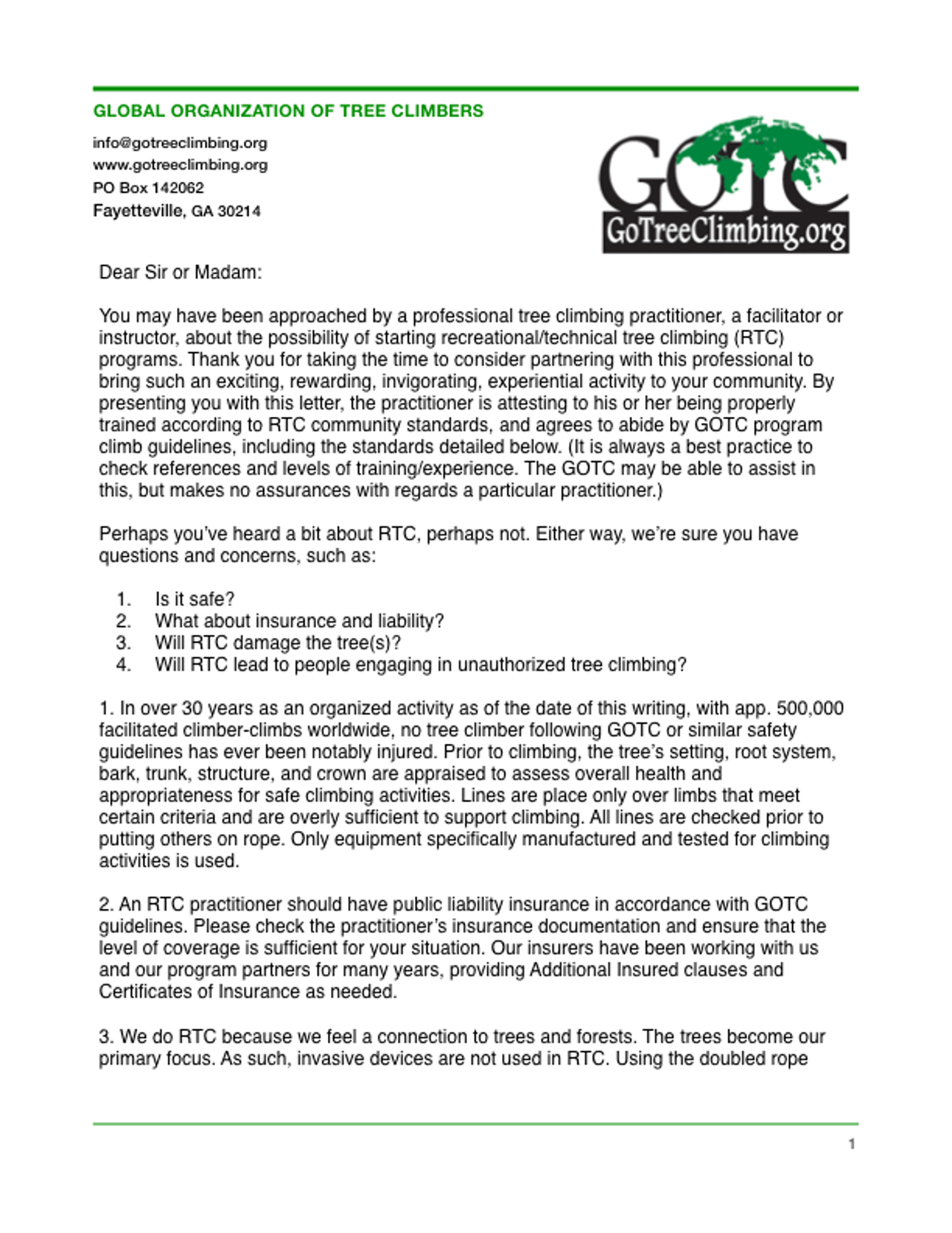 Letter Of Recommendation Guidelines from www.gotreeclimbing.org