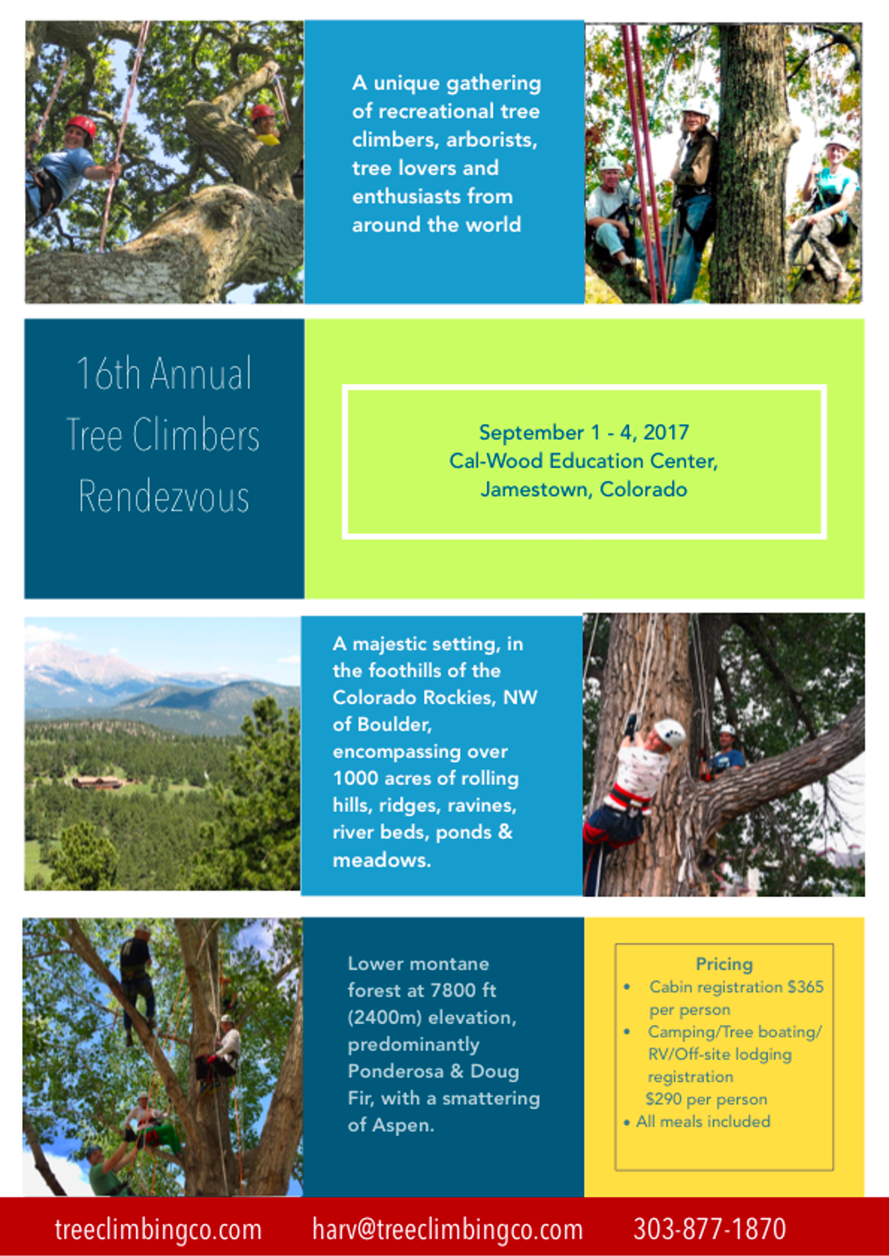 Rendezvous Calendar | Global Organization of Tree Climbers